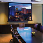 "Draper 140029FNQ Access FIT/Series V 58 x 104"" Ceiling-Recessed Motorized Screen with Quiet Motor (120V)"