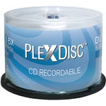 PlexDisc 700MB CD-R Logo Top Discs (Spindle, 50-Pack)