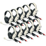 Califone 3066AV-10L Deluxe Multimedia Stereo Headset (Dual 3.5mm Plug, Pack of 10)