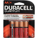 Duracell Quantum AA 1.5V Alkaline Battery (4-Pack)
