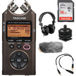 Tascam DR-40 On-Camera DSLR Audio Kit (Bronze)