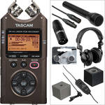 Tascam Bronze DR-40 Handheld and Lavalier Interviewer Kit