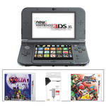Nintendo 3DS XL Kit with Super Smash Bros. & AC Adapter (2015 Version, Black)