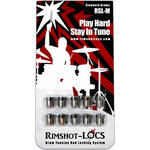 Rimshot-Locs RSL-MINI-STD Drum Tension Rod Lock for Most Smaller Drums & Snares (10-Pack)