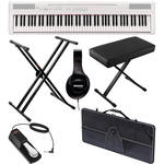Yamaha P-105 88-Key Piano Value Bundle (White)