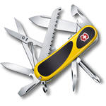 Victorinox Evolution Grip S18 Pocket Knife (Yellow/Black, Clamshell Packaging)