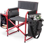 Picnic Time Fusion Camp Chair (Dark Gray/Red)