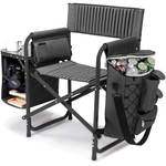 Picnic Time Fusion Camp Chair (Dark Gray/Black)