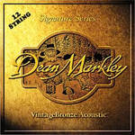 Dean Markley 2206 Medium - Vintage Bronze Acoustic Guitar 12-String Set (.012/.012-.054/.030)