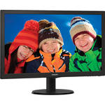 "Philips 223V5LSB 21.5"" LCD Monitor w/ SmartControl Lite Technology (Black)"