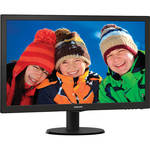 "Philips 243V5LSB 23.6"" LCD Monitor w/ SmartControl Lite Technology (Black)"