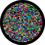 "Rosco Standard Color Glass Spectrum Gobo #86757 Mosaic Tile Breakup (86mm = 3.4"")"