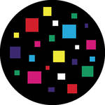 "Rosco Standard Color Glass Spectrum Gobo #86603 Squares (86mm = 3.4"")"