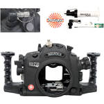Aquatica AD7100/200 Underwater Housing for Nikon D7100 or D7200 Vacuum Check System (Ikelite M/TTL Strobe Connector)