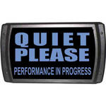 American Recorder OAS-2003-BL QUIET PLEASE Sign with LEDs (Blue)