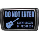 American Recorder OAS-2006-BL GUITAR LESSON Sign with LEDs (Blue)