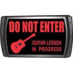 American Recorder OAS-2006-RD GUITAR LESSON Sign with LEDs (Red)