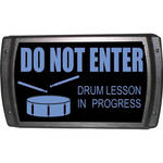 American Recorder OAS-2007-BL DRUM LESSON Sign with LEDs (Blue)