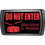 American Recorder OAS-2007-RD DRUM LESSON Sign with LEDs (Red)