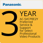 Panasonic AC-SVCPRE2Y Preferred Service & Support for Select Professional Video Products