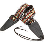 "On-Stage GSA10YWBST Guitar Strap with Leather Ends (31 to 52"", Sunburst Pattern)"