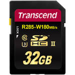 Transcend 32GB Ultimate UHS-II SDHC Memory Card (U3)