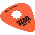 EVERLY Star Pick 12-Pack of Guitar Picks (.60mm, Orange)