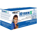 "HamiltonBuhl HygenX 2.5"" Disposable Sanitary Ear Cushion Covers for On-Ear Headphones and Headsets (Black, 50 Pairs)"