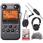 Sony PCM-M10 Portable Audio Recorder & OLM-10 Lavalier Value Bundle (Black)