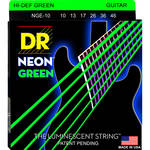DR Strings NEON Hi-Def Green Coated Electric Guitar Strings (10-46, 6-String Set)