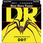 DR Strings DDT - Drop-Down Tuning - Electric Guitar Strings (Extra Heavy Gauge, 6-String Set)