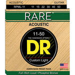 DR Strings Rare Phosphor Bronze Acoustic Guitar Strings (Medium Lite, 11-50 Gauge)