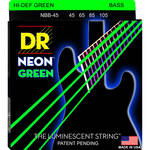 DR Strings HD Neon Green Bass Strings (45-105)