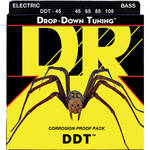 DR Strings DDT - Drop-Down Tuning - Electric Bass Guitar Strings (Medium, 4-String Set)