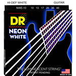 DR Strings NEON Hi-Def White Coated Electric Guitar Strings (10-46, 6-String Set)