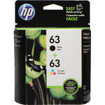 HP 63 Tri-Color/Black Ink Cartridge Pack