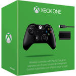 Microsoft Xbox One Wireless Controller and Play & Charge Kit (2015 Version, Black)
