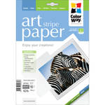 "ColorWay ART Glossy Stripe Textured Photo Paper (8.5 x 11"", 10 Sheets)"