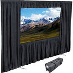 "Draper Dress Kit for Ultimate Folding Screen with Case - 10'6"" x 14"" - Black"