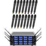 VocoPro UHF-8900-C16 8-Channel UHF-PLL Wireless Microphone Kit with Flight Case