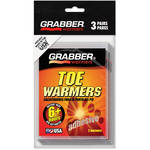 Grabber Toe Warmers - Single-Use Air-Activated Heat Packs (Three Pairs)