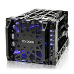 "Icy Dock Black Vortex 4-Bay 3.5"" SATA Hard Drive Cooler Cage"