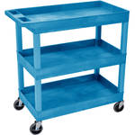 "Luxor 32 x 18"" Three-Shelf Utility Cart (Blue)"