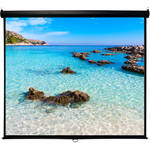 "HamiltonBuhl WS-W59105BK 59 x 105"" Manual Projection Screen"