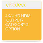 Cinedeck 4K / UHD HDMI Output Category 2 Option for ZX Systems
