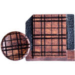 Artisan Obscura Soft Shutter Release & Hot Shoe Cover Set with Etched Plaid Design (Small Convex, Threaded, Bloodwood)