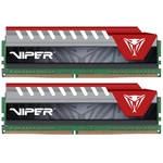 Patriot 16GB Viper Elite DDR4 2666 MHz UDIMM Memory Kit (2 x 8GB, Black/Red)