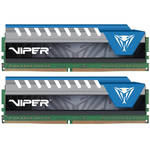 Patriot 8GB Viper Elite DDR4 3000 MHz UDIMM Memory Kit (2 x 4GB, Black/Blue)