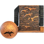 Artisan Obscura Soft Shutter Release & Hot Shoe Cover Set with Etched Flock of Birds Design (Large Concave, Threaded, Chakte Viga Wood)