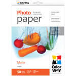 "ColorWay Matte Photo Paper (4 x 6"", 50 Sheets, 190 gsm)"